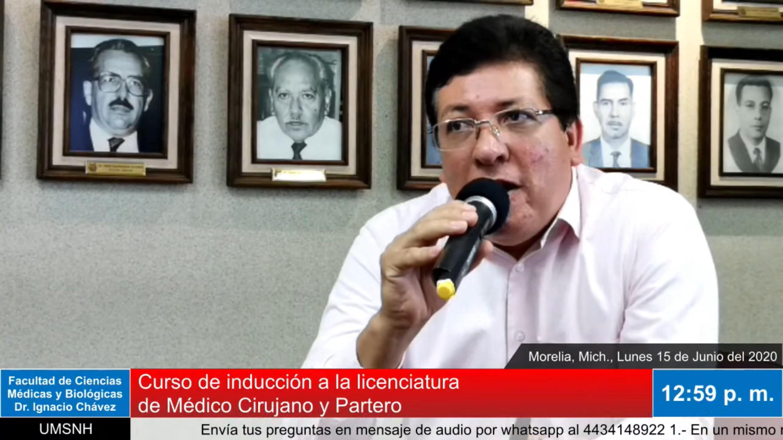 Transmisión del tercer Curso de Inducción a la Licenciatura de Médico Cirujano y Patero