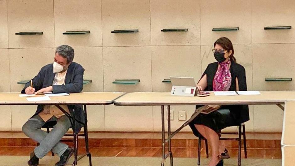 La reunión con la CONTU y la SEP fue encabezada ppor el subsecretario de educación superior Dr. Luciano Concheiro y la directora de la DGESU, Dra. Carmen E. Rodríguez Armenta.