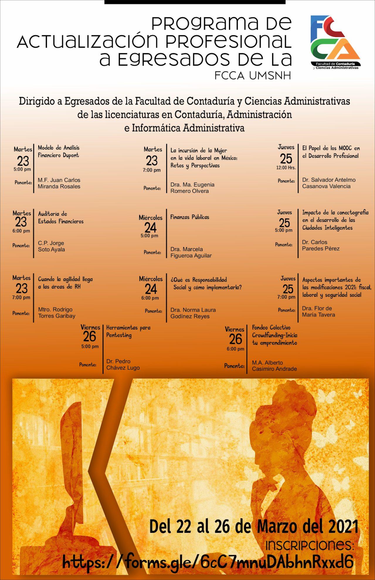 Progrma de Actualización Profesional a Egresados de la FCCA - UMSNH